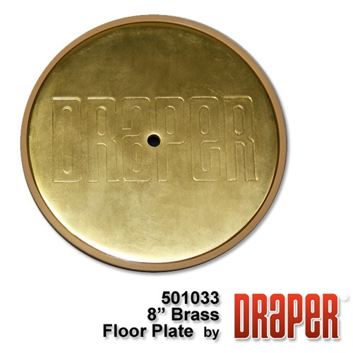 8? Brass Plated Floor Cover Plate Assembly