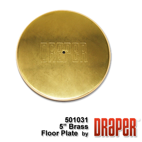 5? Brass Plated Floor Cover Plate Assembly