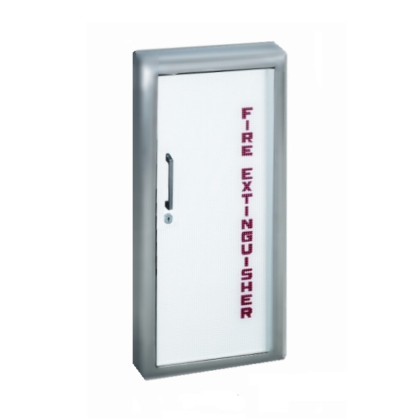 JL Industries 1035 Panorama Stainless Steel Fire Extinguisher Cabinet Flat Trim
