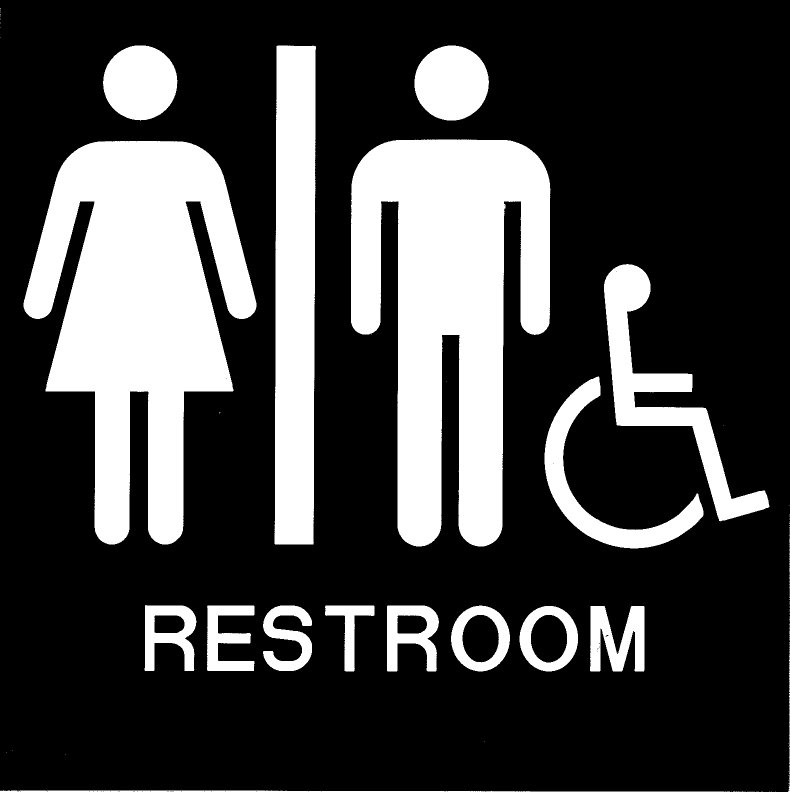 ADA Handicap Accessible Unisex Restroom Sign