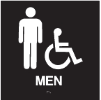 ADA Handicap Accessible Mens Restroom Sign
