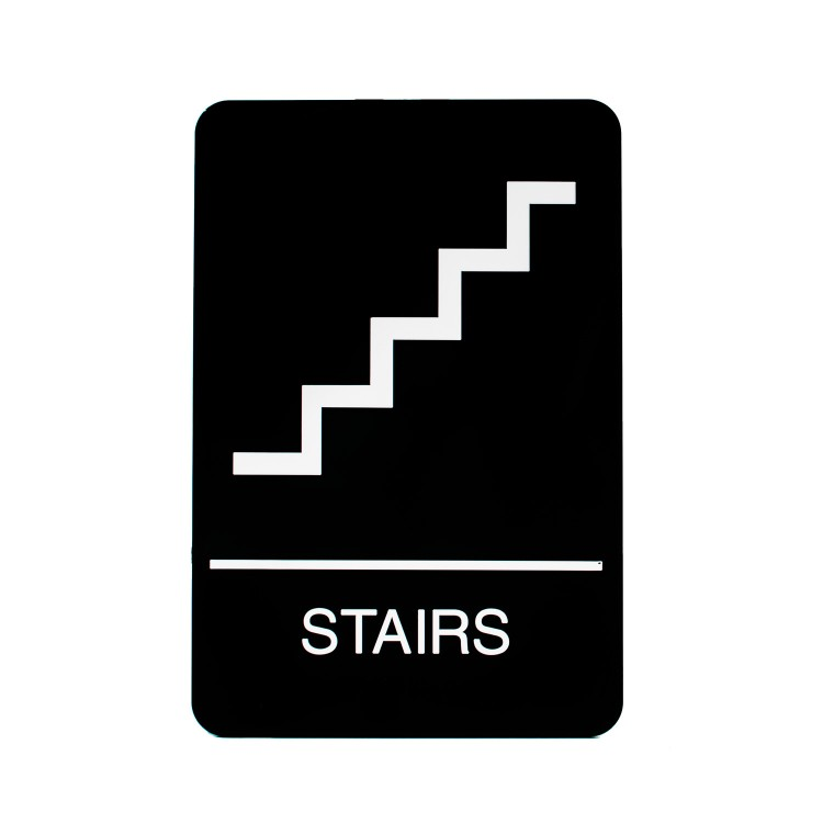 Stairs Sign Braille