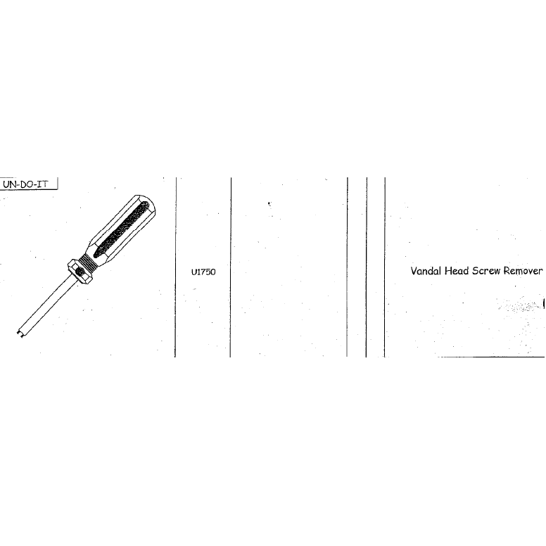 Vandal Head Screw Remover