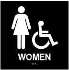 ADA Handicap Accessible Womens Restroom Sign