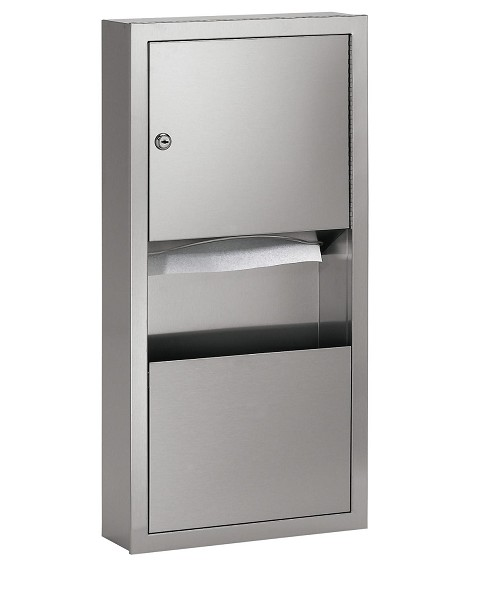 Bradley 2291-11 Low Capacity Towel Dispenser / Waste Receptacle