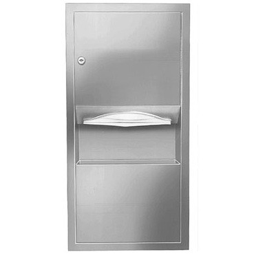 Bradley 2291 Low Capacity Towel Dispenser / Waste Receptacle