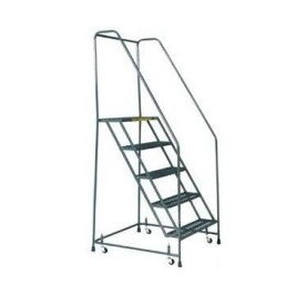 Rolling Safety Ladder 6 Step Handrails
